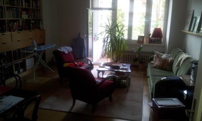 Obývací pokoj před návštěvou Zelené úklidovky
