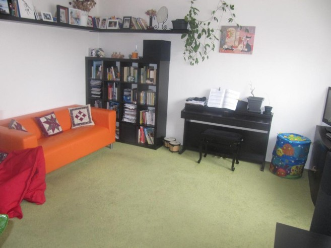 Obývací pokoj po úklidu